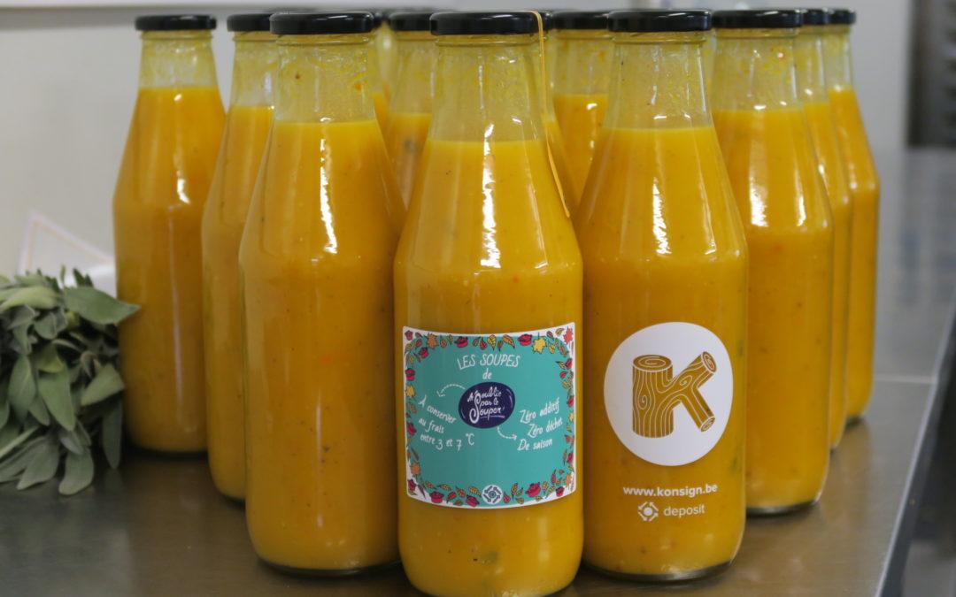 Soupe potimarron, pomme, sauge et moutarde, wouaw !